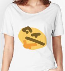 thinking emoji Women's Relaxed Fit T-Shirt