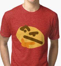 thinking emoji Tri-blend T-Shirt
