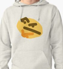 thinking emoji Pullover Hoodie