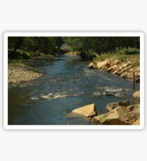 Rocky river bed Sticker