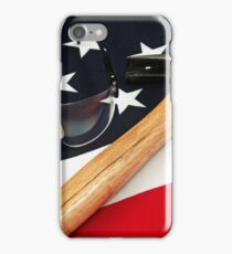 American hammer and safety glasses iPhone Case/Skin