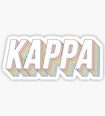 Kappa 3D Pastel Sticker