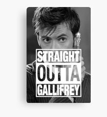 Straight Outta Gallifrey- TENNANT Canvas Print