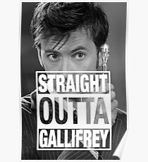 Straight Outta Gallifrey- TENNANT Poster