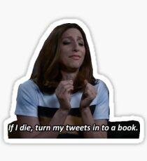 book o' tweets Sticker