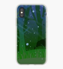 Bear and Bunny in Woods iPhone Case