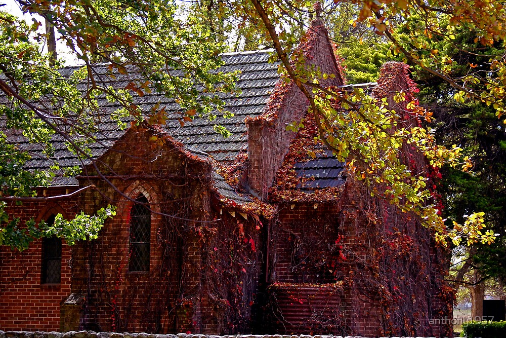 New England Country Church by anthony1957
