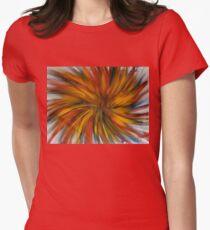 Crazy Sunburst Finger Painted MKART Womens Fitted T-Shirt