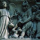 Nice looking sinners bound for Hell at Resurrection Judgement, Facade Notre Dame Paris 19840818 0056 by Fred Mitchell