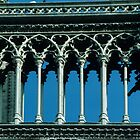 Between the towers on Facade Notre Dame Paris 19840818 0057  by Fred Mitchell