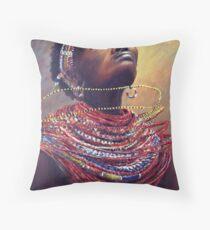 Samburu Dance Throw Pillow