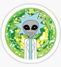 Alien Rick Portal - Rick & Morty Sticker