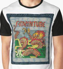 Retro Adventure Game Cartridge Graphic T-Shirt