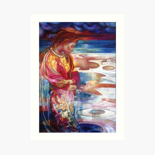 blu mermaid Art Print
