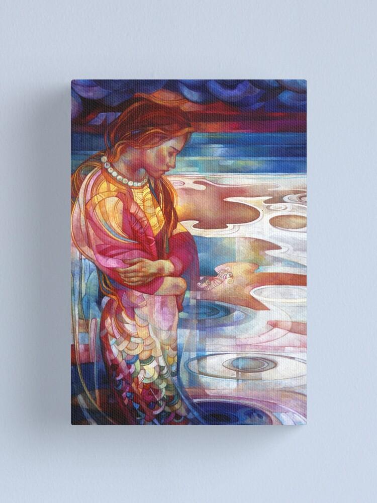 Alternate view of blu mermaid Canvas Print