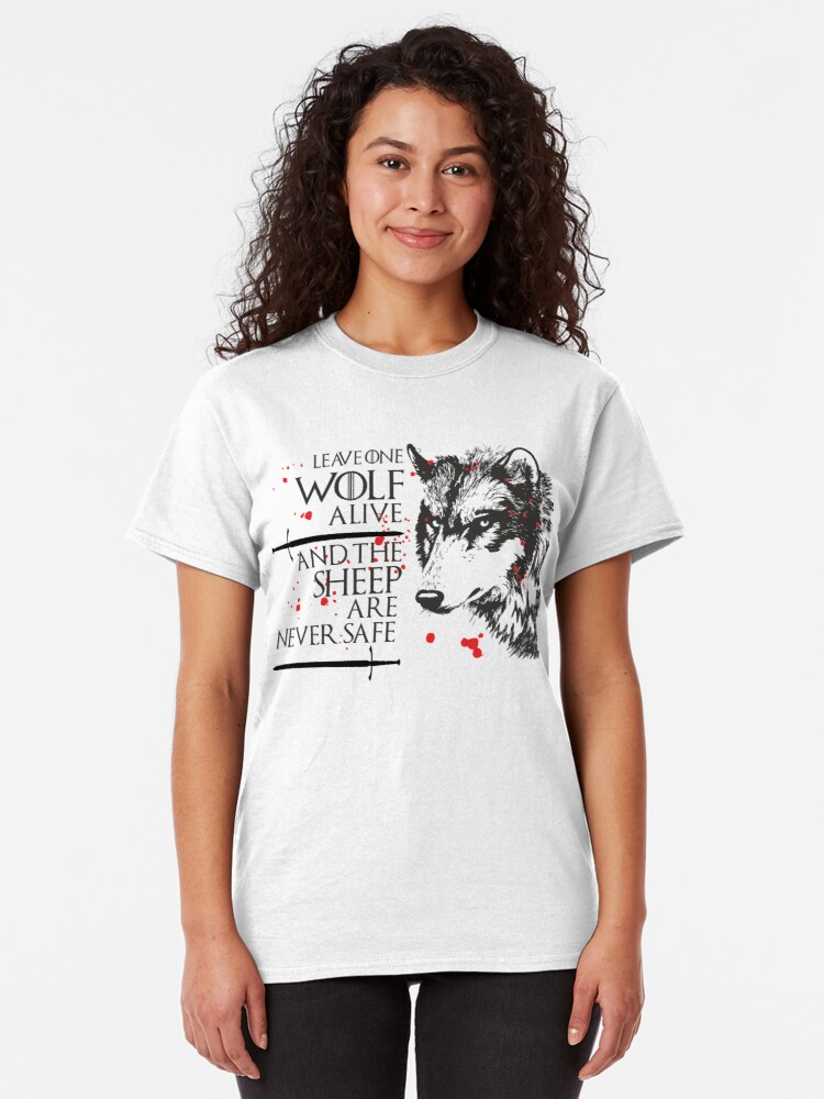 Leave One Wolf Alive T Shirt Arya Stark Game Of Thrones Gift Women Ladies Top