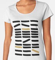 Black & Gold Abstract Women's Premium T-Shirt