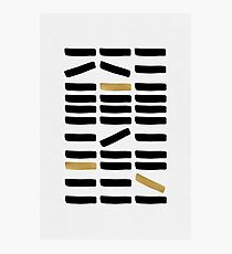 Black & Gold Abstract Photographic Print