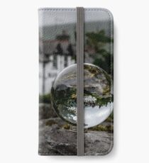 Lake District Landscape through a Crystal Ball iPhone Wallet