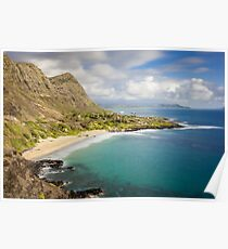 Makapuu Beach Park Scenic Lookout  Poster