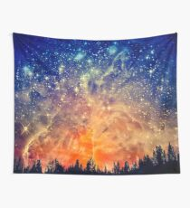 Fire Sunset, Galaxy Sunset Wall Tapestry