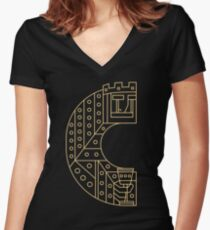 RULERS - Letter C Women's Fitted V-Neck T-Shirt