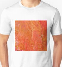 Paint pour in orange, red and yellow Unisex T-Shirt