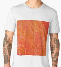 Paint pour in orange, red and yellow Men's Premium T-Shirt