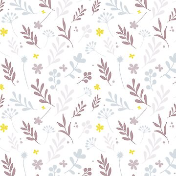 Floral Pattern 1 - Pink by pauladolz