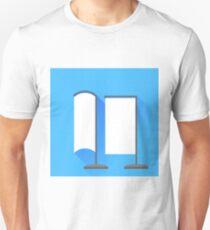 Vertical Beach Banner Icons Unisex T-Shirt