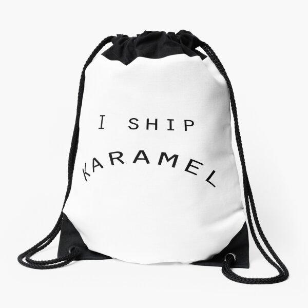 I SHIP KARAMEL Drawstring Bag