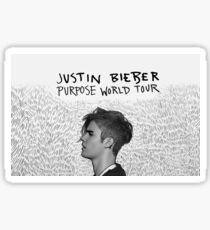 Justin Beiber World Tour Sticker