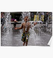 Water Fountain Joy Poster