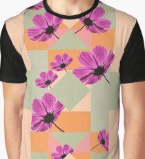 Geometric Flowers Graphic T-Shirt