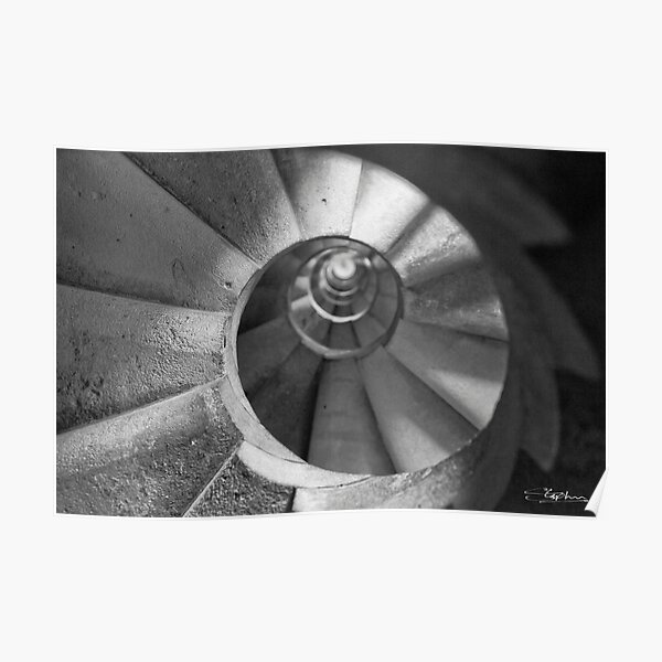 Spiral Staircase in the 'Sagrada Familia' Looking UP! Poster