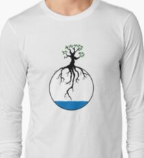 Tree with root in the water Long Sleeve T-Shirt