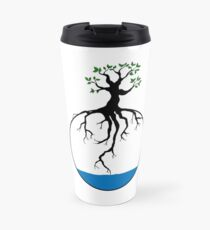 Tree with root in the water Travel Mug