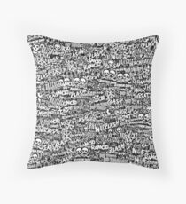 Punk-Rock bands. Stickerbombing Throw Pillow