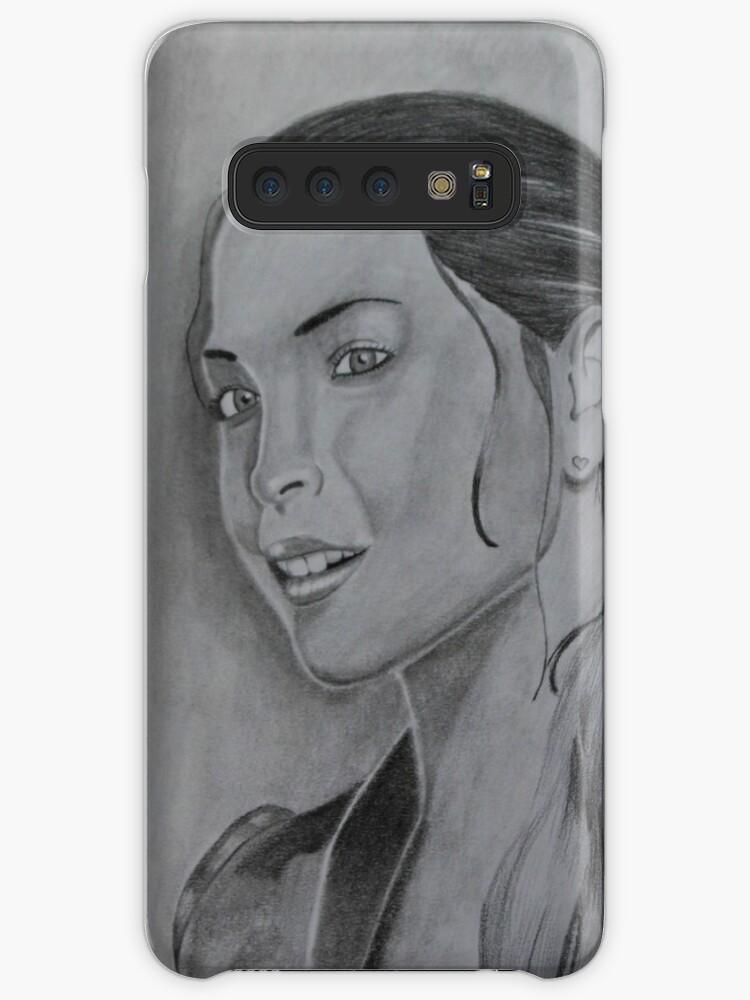 Fundas Y Vinilos Para Samsung Galaxy Kristin Kreuk Dibujo A Lápiz