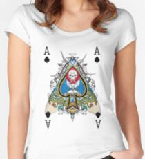 Cryptic Cards: Ace of Spades Women's Fitted Scoop T-Shirt