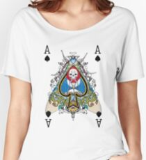 Cryptic Cards: Ace of Spades Women's Relaxed Fit T-Shirt