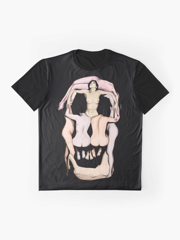 Vista alternativa de Camiseta gráfica Calaveras de Salvador Dalí