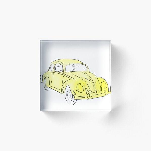 yellow VW/ Emmas Bug  Acrylic Block