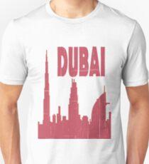 I Love my city Dubai. Capital city silhouette with touristic places T-Shirt