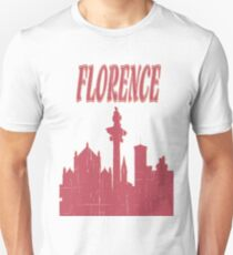 I Love my city Florence. Capital city silhouette with touristic places T-Shirt