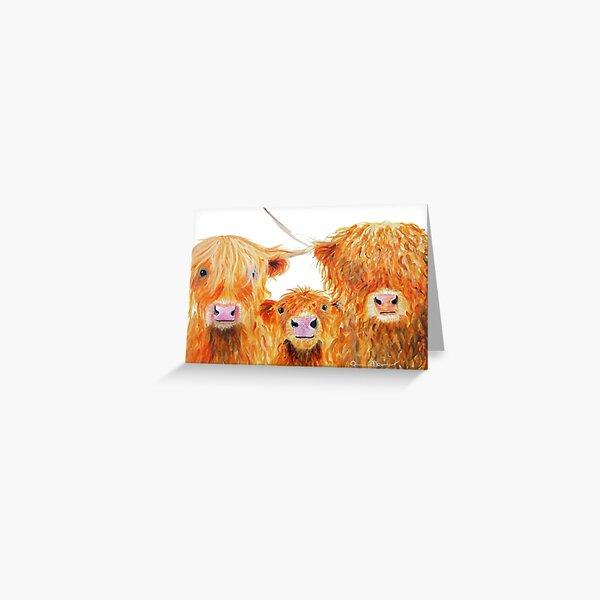 WE 3 COOS Greeting Card