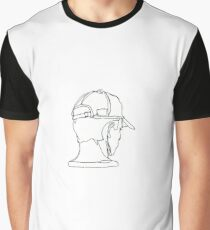 One lined boy with cap Graphic T-Shirt