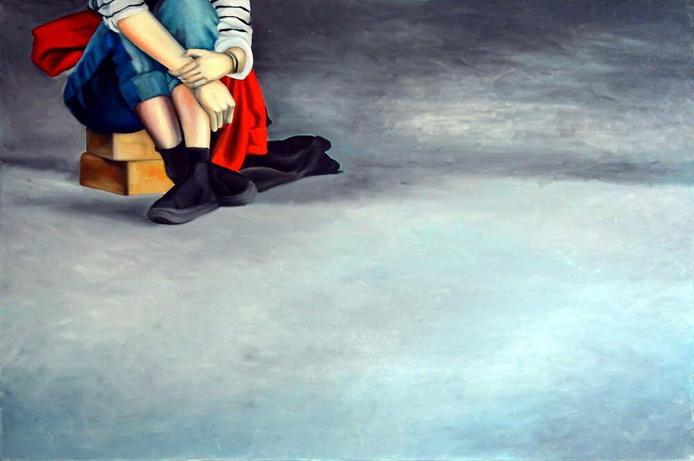 Gentle thoughts, 2014, 120-80cm, oil on canvas by oanaunciuleanu