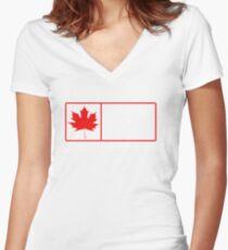 ontario wilderness Women's Fitted V-Neck T-Shirt