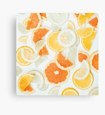 citrus fresh - orange twist Canvas Print